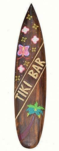 Interlifestyle Deko Surfboard 100cm Tiki Bar Hawaii Dekoration zum Aufhängen Maui Kaui Südsee Surfbrett