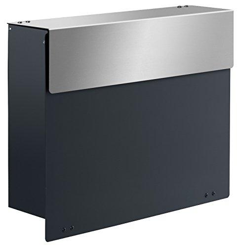 Frabox ARLON Design Briefkasten Anthrazitgrau / Edelstahl - 2