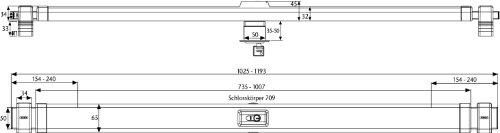 ABUS Panzerriegel PR2700 für Haus- und Wohnungstüren ohne Zylinder, weiß, 49099 - 4