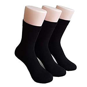 XMDNYE 3 Paar Männer Socken Herbst Und Winter Warme Socken Einfarbig Atmungsaktive Socken