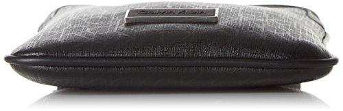 Calvin Klein Jeans Power CK Mini Flat, Borsa a Tracolla Uomo, Nero (Black 001 001), 21 x 18 x 3 cm (B x H x T) Nero (BLACK 001 001)