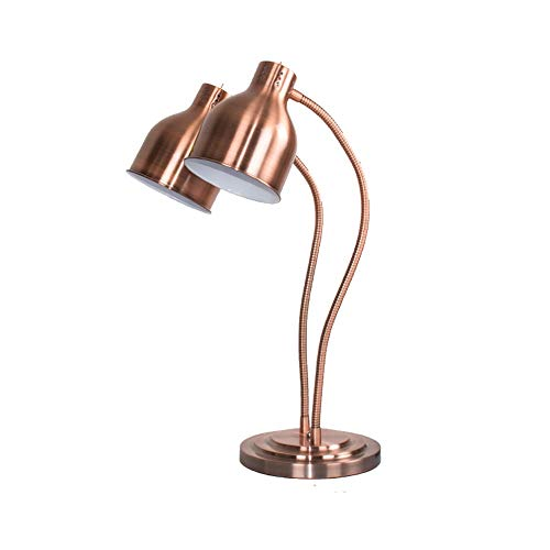 Schwarz-gold-buffet-lampe (ZXT Food Warming-Lampe Einzel- / Doppelbirnen-Buffet-Display-Heizungslicht, kommerzielle tragbare W250-Wärmelampe (Farbe : Kupfer, größe : Double Head))