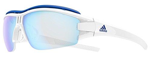 Adidas Brille evil eye halfrim pro ad07 - 1500 white shiny VARIO blue mirror (Small)