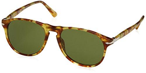 Persol Herren 0Po6649S 10614E 55 Sonnenbrille, Gelb (Yellow Tortoise/Green)