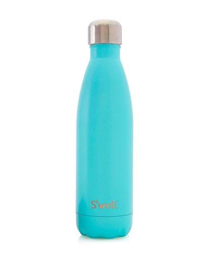 Swell Botella Termo, Acero Inoxidable, Azul, 7.11x7.11x26.4 cm