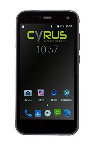 Cyrus CYR10109 Outdoor Smartphone CS28 Hipster, 12,7cm (5Zoll), stoßsicher, staubgeschützt, wasserfest, 3GB RAM, 32GB Rom, 13MP Kamera, schwarz (Zertifiziert und Generalüberholt)