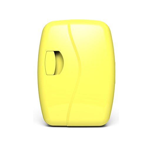 Auto Kühlschrank - 5L Auto Kühlschrank Mini Kühlschrank Kälte Reise Kühlschrank Student Schlafsaal Gefrierschrank Portable Cold Box Auto Refrigerato (Color : Yellow) - Portable Shop Schreibtisch