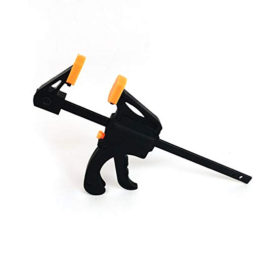Hilai 1pc 4 Zoll Holzbearbeitung F Clamp Clip Quick Grip Verstellbare Holz Tischler-Werkzeug Klemmen (Orange und schwarz)