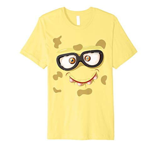 Nerd Monster Face T-Shirt Funny Kids Gifts Halloween Costume