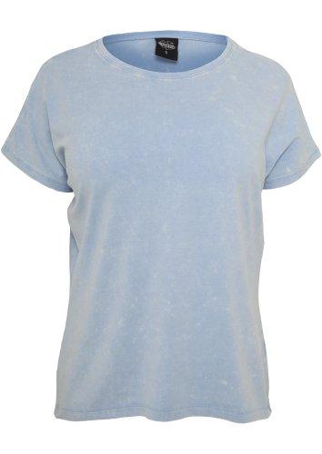 Ladies Stoned Tee shirts Urban Classics Streetwear Donna skyblue