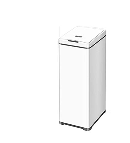 DDPP 50L Große Edelstahl Intelligente Sensor Mülleimer Home Küche Hotel Kommerzielle Kreative Büro Rechteck,2,S