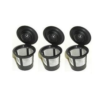 3 Permanent Coffee Filters for Keurig B30, B31, B40, B41, B60, B70, K40, K45, K65, K75. Replaces Keurig My K-cup(tm), Solofill(tm), Ekobrew(tm) and all other reusable coffee filters for Keurig Home Single Cup Brewing Systems by ValueCafe