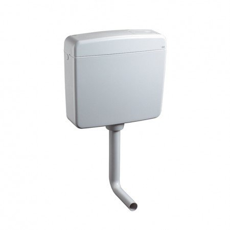 Aquashine® Hochwertiger Universal WC Spülkasten    TWIN 2-Mengen Spülkasten    vollisoliert    Anschluss links/rechts/mittig    DIN geprüft    weiss    Qualitätsprodukt Made in