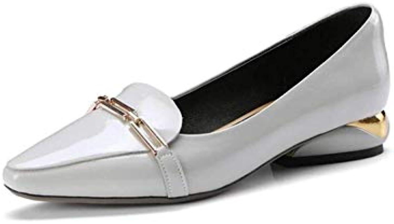 Willsego Mocassins en Cuir pour Femme Chaussures Plates en métal Gris, à Talon Bas (coloré : Gris, métal Taille : 35)B07K729JBMParent a5dfc1