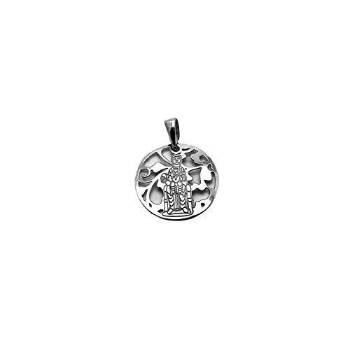 Medalla Virgen de Montserrat Plata de Ley