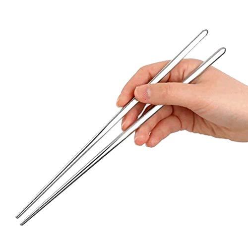 vientiane Edelstahl Chopsticks, 5 Pair Reusable Essstäbchen,Hygienisch und Extrem Haltbar für Camping Besteck,Freien Stäbchen (22.5cm)