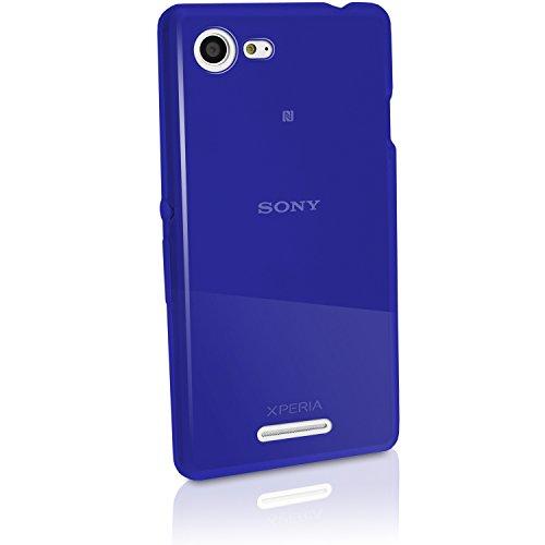 iGadgitz u3319blau Handy-Schutzhülle Hülle für Mobiltelefone (Schutzhülle, Sony, Xperia E3D2202, blau)