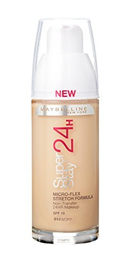 Maybelline Superstay 24HRS 10 Ivory Frasco dispensador - base de maquillaje (Ivory, Piel mixta, Piel seca, Piel normal, Piel grasosa, Piel sensible, Frasco dispensador, 24 h, Francia, 33 mm)
