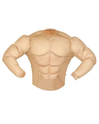 Kostüm Muskel Shirt Gepolsterte - Horror-Shop Super Muskelshirt Kostüm für Karneval & Junggesellenabschied S