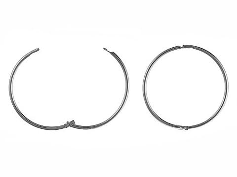 13mm, uni, Scharnier Sleeper Hoop Ohrringe–925Sterling Silber–Lieferung in gratis Geschenkbox/Geschenkbeutel