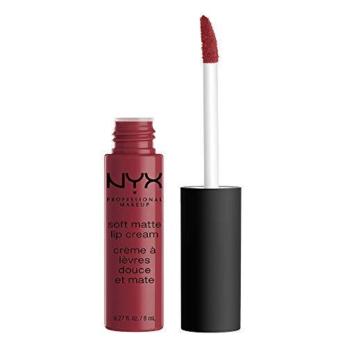 NYX Professional Makeup Soft Matte Lip Cream Rossetto, Finish Matte e Cremoso, Colore Extra-Pigmentato, Long Lasting, Tonalità Budapest