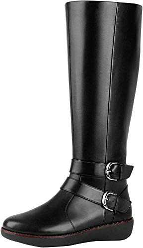 FitFlop&Trade; Womens Noemi&Trade; Double Buckle Knee-High Boots (Leather)