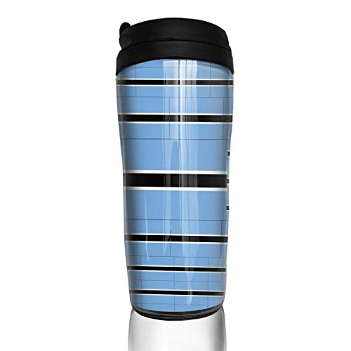 Travel Coffee Mug Botswana Flag 12 Oz Spill Proof Flip Lid Water Bottle Environmental Protection Material ABS