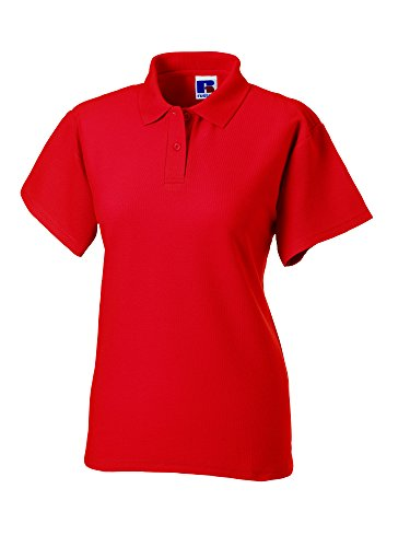 Jerzees - Polo -  - Col polo - Manches courtes Femme Rouge - Bright Red