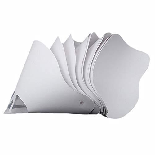 TOOGOO 50 Unids Resina Espesar Filtro de Papel Desechable para Wanhao D7 SLA UV 3D Impresora Piezas Accesorios Filtro de Filamento