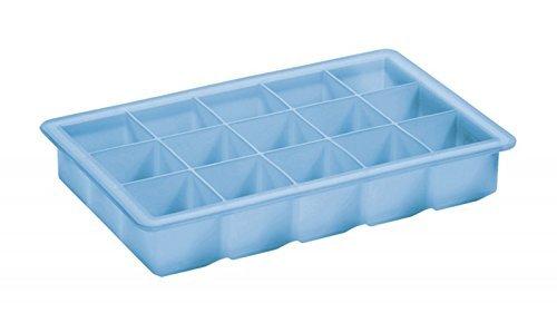 Milopon Eisw/ürfelformen Eisw/ürfelform Eisw/ürfelschale aus Silikon Eisw/ürfel Box Eisw/ürfel Silikonformen Whiskyquadrate Eisw/ürfelbereiter Eisw/ürfelschale 15 pro Schale Gr/ün