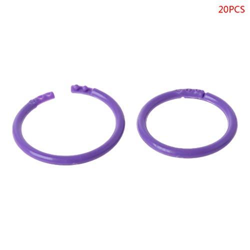 reative Plastic Circle Multi-Functional Loose Leaf Ring Binder Hoop for DIY Photo Scrapbook Album Book Office Purple ()
