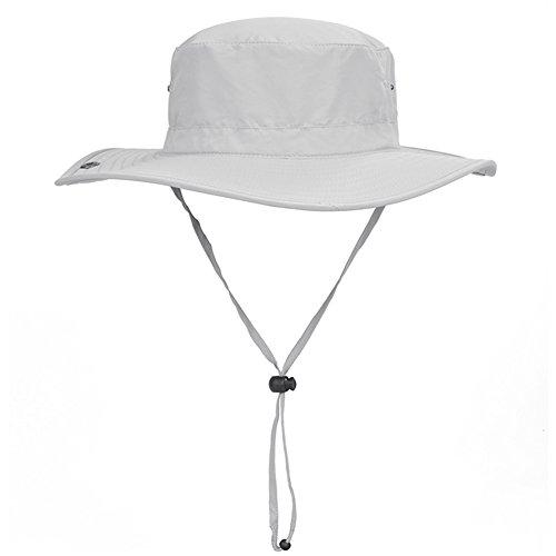 WYYY Chapeaux Hommes Visière Polyester Respirant Protection Contre Le Soleil Protection UV De Plein Air 56-58cm ( Couleur : Gris clair )