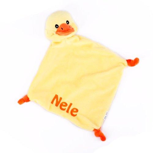 Striefchen® Enten Schnuffeltuch mit gratis Namen bestickt mit Geschenkverpackung