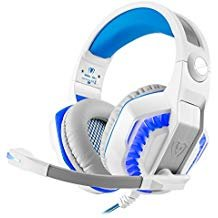 Beexcellent Casque de Jeu, Stereo Gaming Casque Isolation phonique/Lumière LED/Basse Surround Over-Ear/Micro USB & 3.5 mm