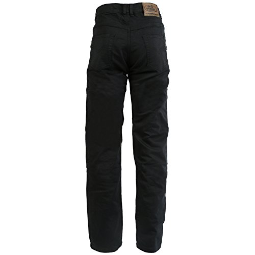 Turin - Damen Jeans Motorradhose - Aramid Dupont Kevlar mit 280 g/m² - schwarz - Größe 50 große Größe - W42 L32