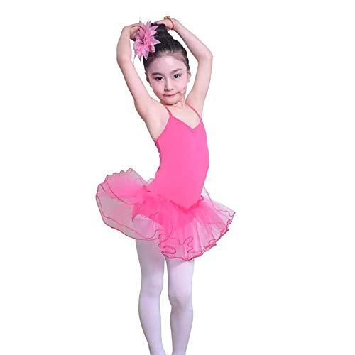 SHRCASE-SWBI Kinder Mädchen Badeanzug Kinder Tanz Kostüm Mädchen Ballett Rock Kinder Gymnastik Übung Kleidung Tutu Strandbadeanzug für Kleinkinder (Farbe : Rot, Größe : 120CM)