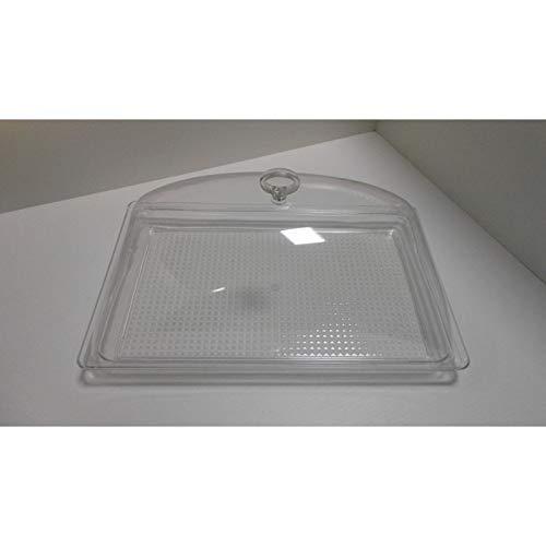 fimel- cloche avec plateau rectangulaire mesure 420 x 280 x H 190 mm en plastique transparent