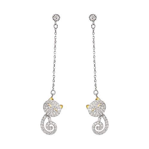 Lan chen carino lungo super fairy kitten orecchini temperamento femminile wild super fairy orecchini girl heart animal ear jewelry