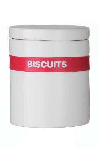 Premier Housewares 0721882 Pot à Biscuits avec Bande de Silicone Rose Chaud