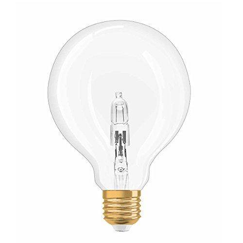 25w Klar Globe (Osram Vintage Edition Halogen-Lampe, Globe - Form, E27-Sockel, dimmbar, 20 Watt - Ersatz für 25 Watt, Warmweiß - 2700K)