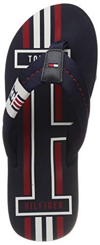 Tommy Hilfiger Badge Textile Beach Sandal, Infradito Uomo, Blu (Midnight 403), 42 EU