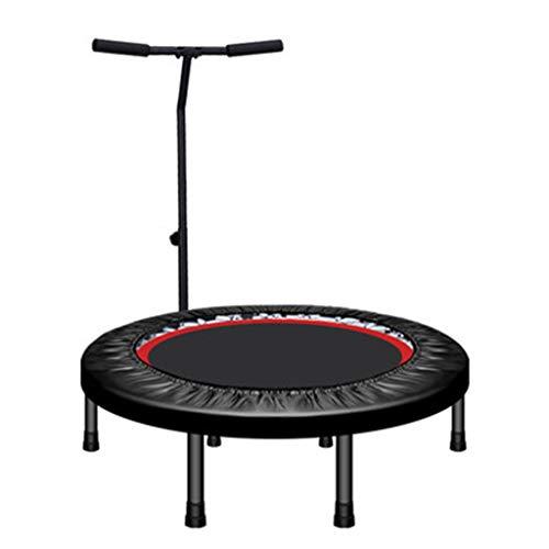 Trampoline De Fitness - Tapis De Saut IntéRieur pour Adultes - avec Barres D'Appui Ajustables - Mini Trampoline - Peut Supporter 150 Kg