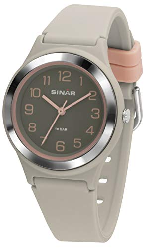 SINAR XB-48-5 - Reloj de Pulsera Deportivo para niña, analógico, de Cuarzo, Sumergible a 10 Bares