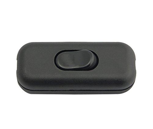 Zwischenschalter / [1 Pack] SFTlite Schwarzer Inline Schalter Verwenden Sie Inline 2 oder 3 Core Schnur zwischenschalter, Leuchtenschalter Light / Lampe Schalter
