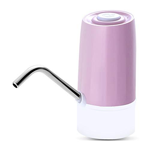 WMC Tragbarer elektrischer Wasserspender Trinkflaschenschalter Intelligente kabellose Wasserpumpe USB-Aufladung für das Home Office,Rosa