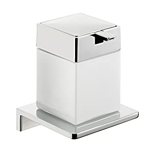 Emco 132120403 Flüssigseifenspender Asio Chrom, Kristallglas weiß