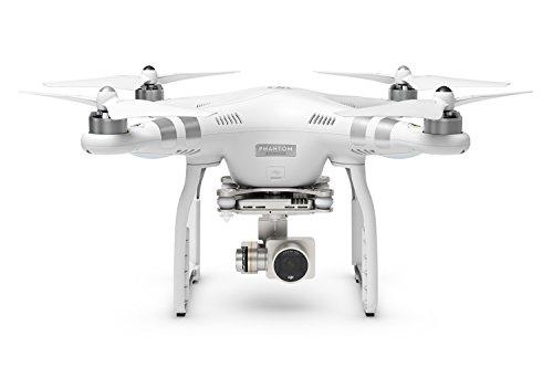 DJI Phantom 3 Advanced UAV Aerial Quadrocopter Drohne mit Integrierter 1080p Full HD Kamera und Gimbal zur Bildstabilisierung - Weiß/Silber (Gopro Wifi Backpack)