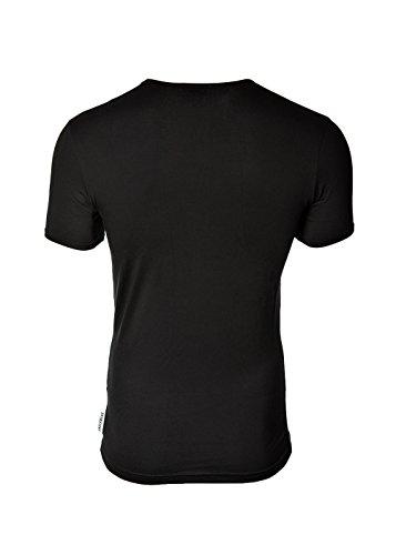BIKKEMBERGS Uomo T-Shirt BIPACK, 2 pack Girocollo Logo T-shirt Schwarz