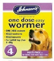 Johnsons Veterinary Products Jvp Dog Easy Dose Wormer - Size 4 Large Breeds 8 Tablets by Johnsons Veterinary Products