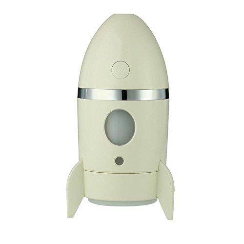 Mini Aire Humidificador,niceEshop(TM) Forma de Cohete Humidificador Aire Purificador con El Cambio de Color de Luz Nocturna para los Coches de Oficinas en El Hogar,Amarillo